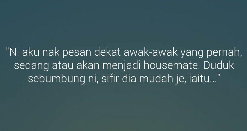 Nota Cinta Buat Housemate
